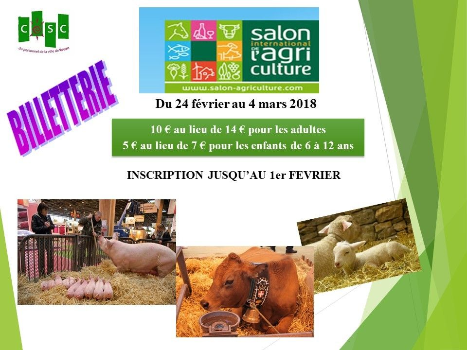Billetterie for Billet salon agriculture