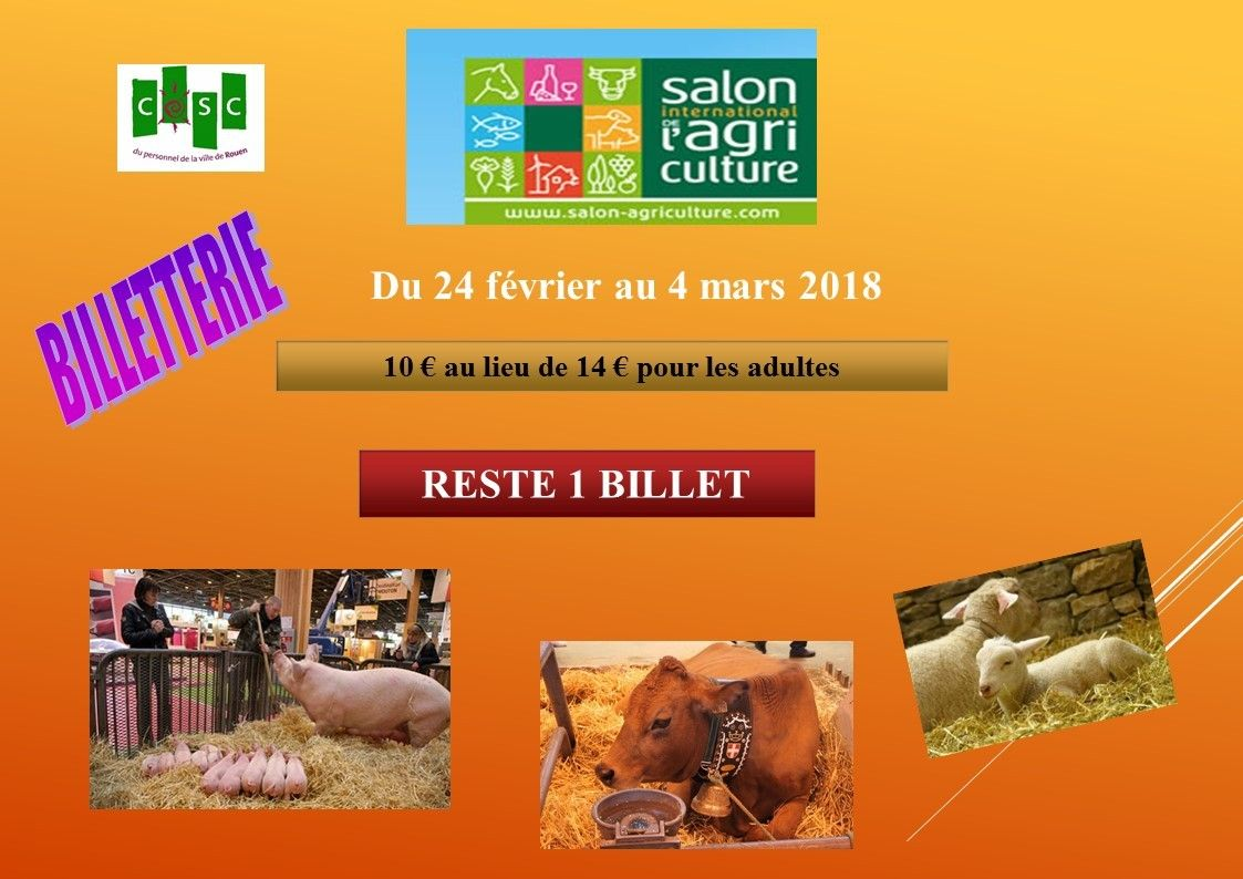 Billetterie for Billet salon de l agriculture